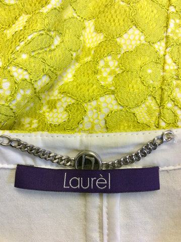 LAUREL LIME GREEN LACE JACKET & SKIRT SUIT SIZE 10