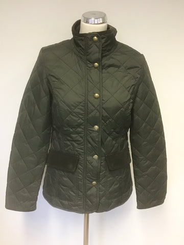 JOULES EVERGLADE DARK GREEN QUILTED JACKET SIZE 10