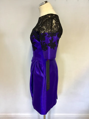 BRAND NEW LOVE BLUE & BLACK LACE SPECIAL OCCASION DRESS SIZE 14