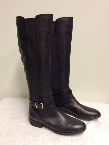 BRAND NEW VINCE CAMUTO BLACK KNEE LENGTH FLAT BOOTS SIZE 4/37