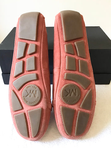 BRAND NEW MICHAEL KORS CORAL SUEDE FLATS SIZE 6.5/40