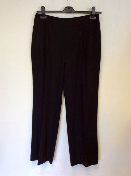 BRAND NEW HOBBS BLACK WOOL FORMAL TROUSERS SIZE 12