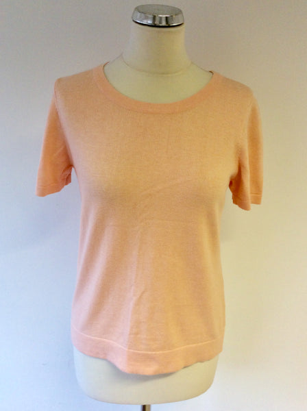 JAEGER PALE PEACH SHORT SLEEVE JUMPER SIZE S