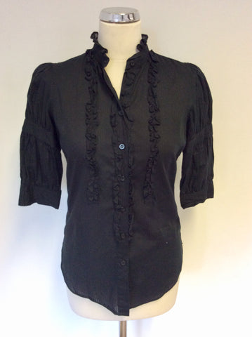 LEVI STRAUSS & CO BLACK COTTON SHORT SLEEVE SHIRT SIZE S