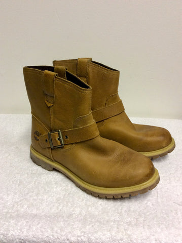 TIMBERLAND TAN LEATHER ANTI FATIGUE LEATHER BOOTS SIZE 8/41.5