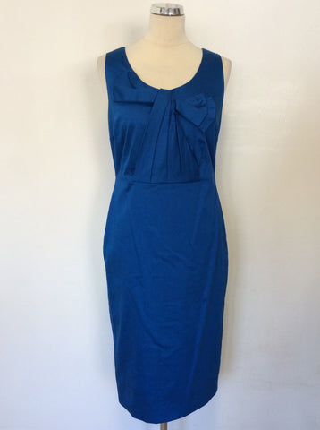 BODEN COBALT BLUE BOW FRONT PENCIL DRESS SIZE 10L