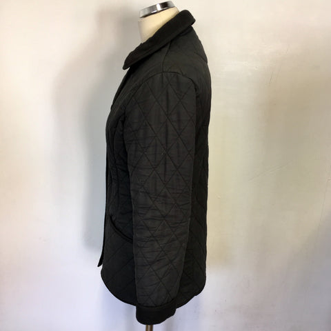 BARBOUR BLACK COTTON POLARQUILT JACKET SIZE 10