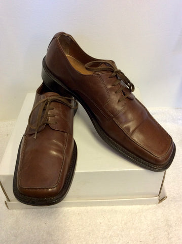 ANGUS WESTLEY CHESTNUT BROWN LEATHER LACE UP SHOES SIZE 9/43