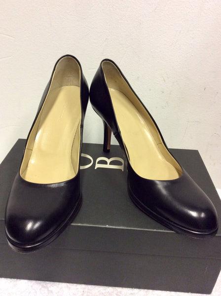 BRAND NEW HOBBS BLACK LEATHER VITELLINO COURT SHOES SIZE 4/37