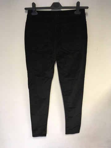 BRAND NEW MONSOON BLACK BRUSHED COTTON JEANS SIZE 10