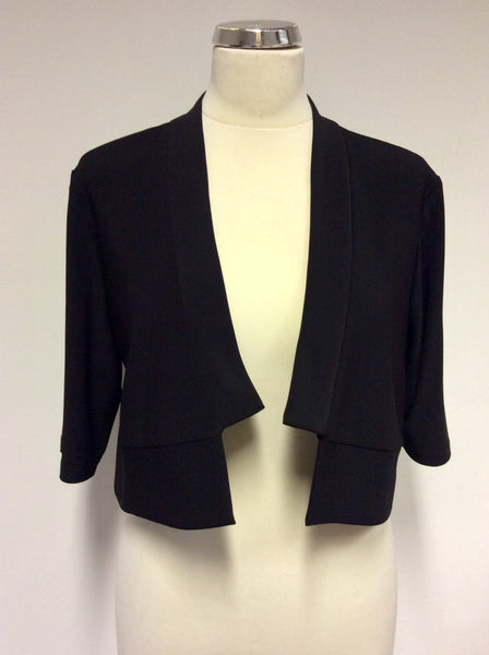 BRAND NEW JOSEPH RIBKOFF BLACK SPECIAL OCCASION / EVENING BOLERO JACKET SIZE 18