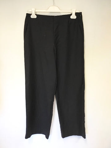 OSKA BLACK 100% VIRGIN WOOL TROUSERS SIZE 2 REGULAR UK 14/16