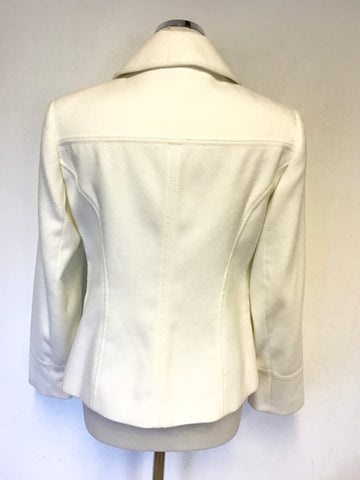 MARKS & SPENCER IVORY BUTTON UP JACKET SIZE 10