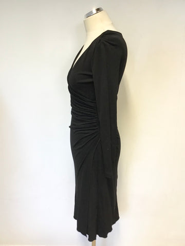 BRAND NEW LK BENNETT BLACK WRAP ACROSS SPECIAL OCCASION DRESS SIZE 6