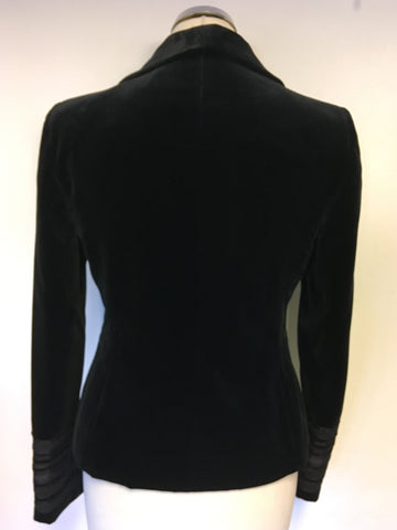 BRAND NEW MONSOON BLACK VELVET FITTED JACKET SIZE 10