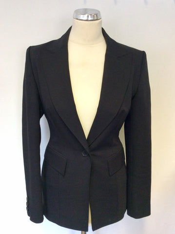 KAREN MILLE BLACK DETACHABLE SATIN TUX COLLAR JACKET SIZE 10