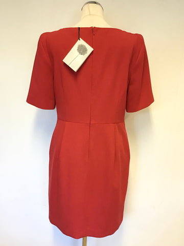 BRAND NEW COAST RED SHORT SLEEVE OCCASION DRESS SIZE 16