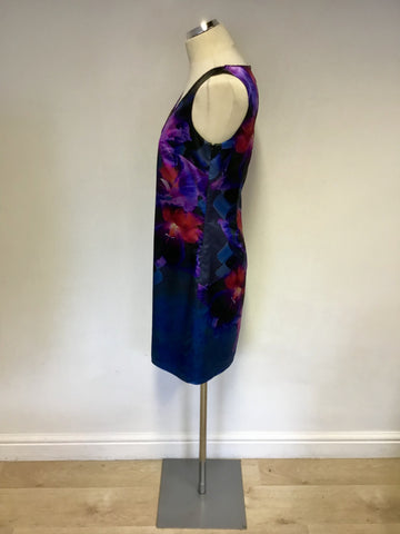 MONSOON MULTI COLOURED FLORAL PRINT DRESS SIZE 10