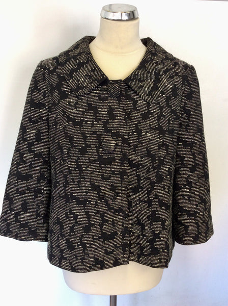 PLANET BLACK & WEAVE JACKET SIZE 16