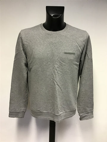 JIGSAW LIGHT GREY COTTON LONG SLEEVE SWEATSHIRT TOP SIZE M