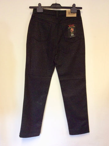 BRAND NEW DOLCE & GABBANA DARK GREY WOOL JEANS/ TROUSERS SIZE 29W/ 32L UK 10/12