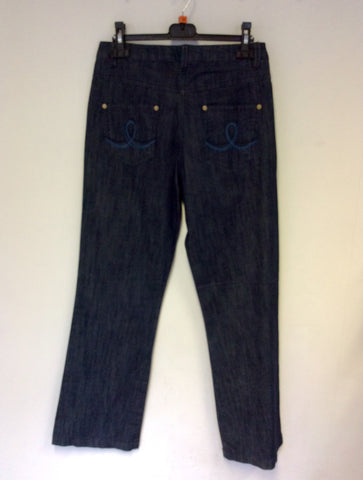 BRAND NEW EMRECO DARK BLUE CHLOE JEANS SIZE 10