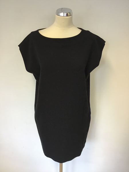 DIABLESS BLACK OVERSIZE MINI DRESS / TUNIC TOP SIZE T1 UK 10