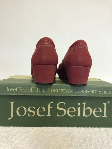BRAND NEW JOSEF SEIBEL CRANBERRY WEDGE HEEL COMFORT SHOES SIZE 4/37
