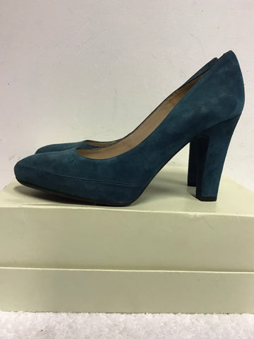 BRAND NEW UNISA TURQUOISE SUEDE HEELS SIZE 5/38
