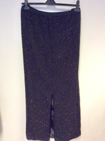 BRAND NEW JMD NEW YORK BLACK BEADED LONG SKIRT SIZE 2XL