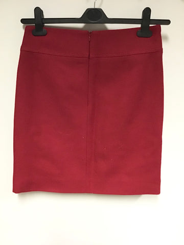 HOBBS RED WOOL MINI SKIRT SIZE 10