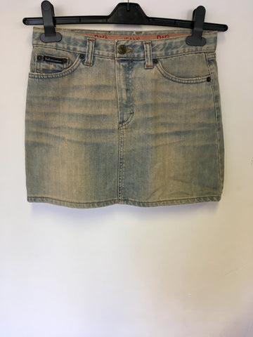 DOLCE & GABBANA LIGHT BLUE DENIM MINI SKIRT SIZE 40 UK 8/10