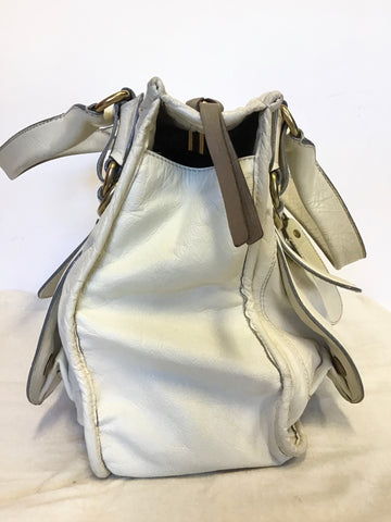 CHLOE BAY CREAM LEATHER LARGE HAND/ SHOULDER BAG