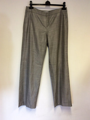 MAX MARA GREY FORMAL WOOL TROUSERS SIZE 14