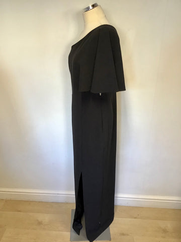 BRAND NEW PHASE EIGHT BLACK ONE SHOULDER LONG EVENING DRESS SIZE 16
