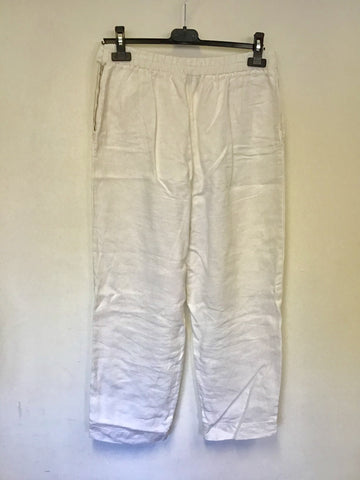 OSKA WHOTE LINEN TROUSERS SIZE II REGULAR UK 12/14