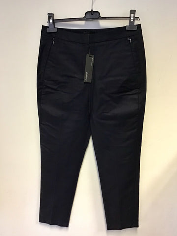 BRAND NEW MARKS & SPENCER AUTOGRAPH NAVY BLUE SUPIMA COTTON CAPRI PANTS SIZE 10