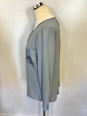 MARKS & SPENCER SILVER GREY BLOUSE SIZE 14