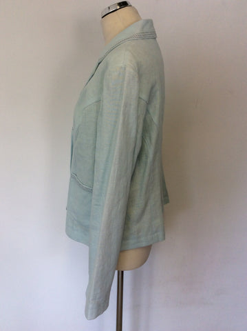 BRAND NEW BODEN LIGHT BLUE LINEN JACKET SIZE 18