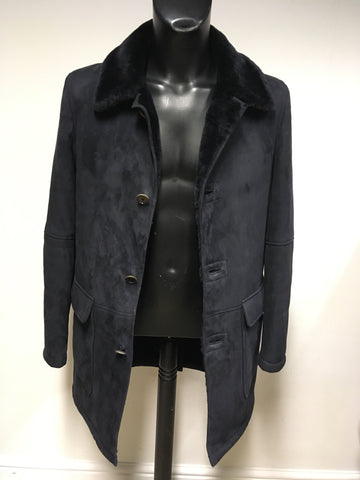BRAND NEW CROMBIE BLACK SHEARLING COAT SIZE S