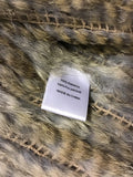 CHARM FURS NEW YORK RABBIT & FOX FUR GILET SIZE M