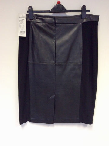 BRAND NEW JOSEPH RIBKOFF BLACK FAUX LEATHER SKIRT SIZE 18