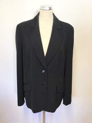 ARTIGIANO BLACK SUIT JACKET SIZE 20