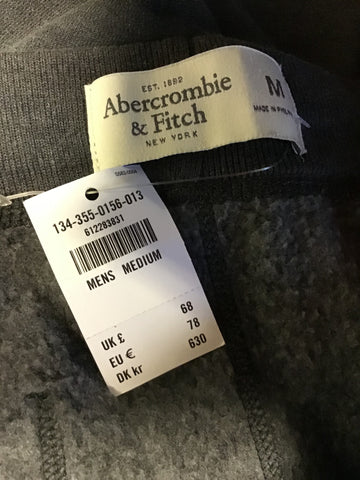 BRAND NEW ABERCROMBIE & FITCH GREY JOGGING BOTTOMS SIZE M