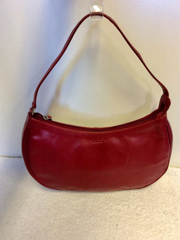 OSPREY RED LEATHER SHOULDER BAG