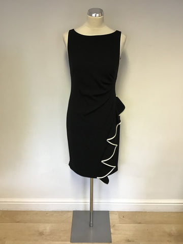 BRAND NEW COAST BLACK TIPPED IRAH DRESS SIZE 10