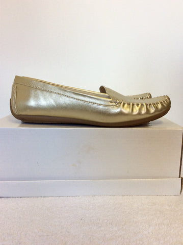 BRAND NEW LOTUS GOLD SLIP ON LOAFERS SIZE 6/39