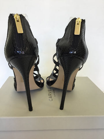 BRAND NEW CARVELA BLACK STRAPPY OCCASION HEELS SIZE 7/40