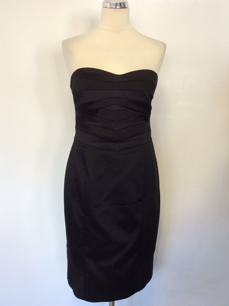Coast Black Strapless Special Occasion Pencil Dress Size 14
