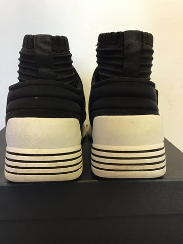 KENDALL + KYLIE BRAX BLACK HIGH TOP TRAINERS SIZE 6/39